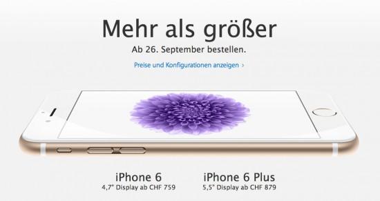 iPhone 6 im Apple Online Store Schweiz