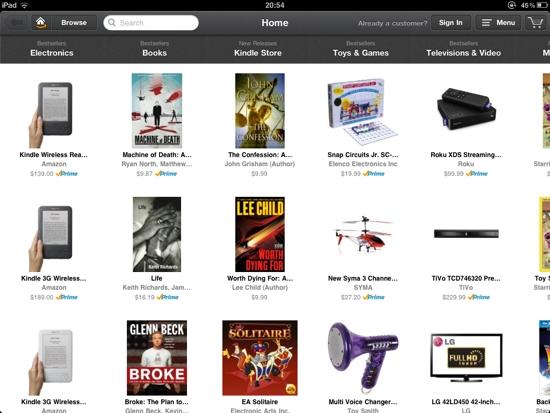 iPad App Amazon Windowshop