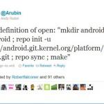 Android Chef schickt ersten Tweet an Steve Jobs