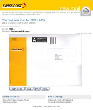 Swiss Post Box Mein Elektronischer Briefkasten Ifrickch