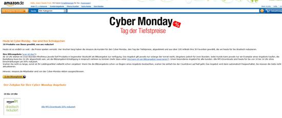Cyber Monday Amazon.de
