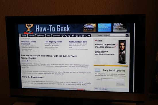 Google TV Chrome Browser
