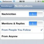 Twitter for iPhone mit Push Unterstützung