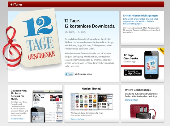 12 tage 12 kostenlose downloads ab in itunes update nothing but. Black Bedroom Furniture Sets. Home Design Ideas