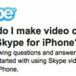 Skype Videotelefonie für iOS angekündigt