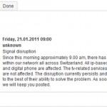 Massive Störung im Cablecom Netz (Update)