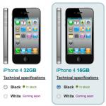 Weisses iPhone 4 bei Vodafone UK gelistet