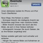 Grosses Update: Evernote 4 für iPhone erschienen