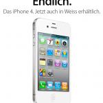 Apple erklärt die Schwierigkeiten mit dem weissen iPhone 4