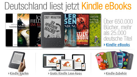 Amazon Kindle eBooks German