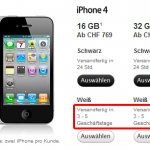 Online Lieferzeit für das weisse iPhone 4 bei einigen Tagen