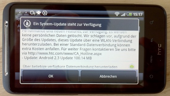 Android 2.3 Gingerbread Update for HTC Desire HD