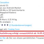 HTC Sensation ab 16. Mai bei Swisscom erhältlich