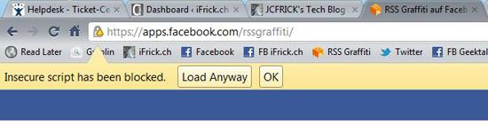 Google Chrome Browser blocks Javascript