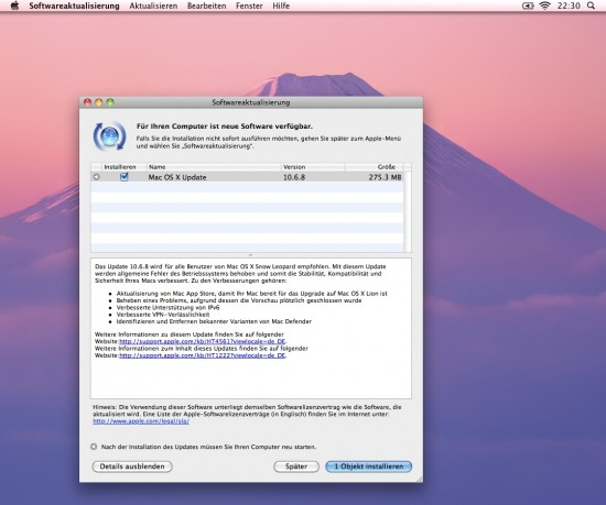 Snow Leopard OS X 10.6.8 Update