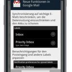 Neue Gmail Version für Android