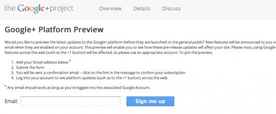 Google+ GooglePlus Plattform Preview Groups