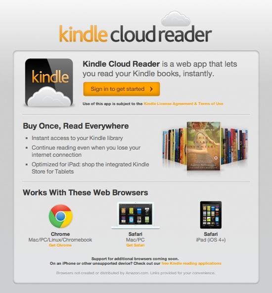 amazon cloud reader kindle ebook reader aus der wolke nothing but. Black Bedroom Furniture Sets. Home Design Ideas