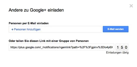 Google+ Invite Link GooglePlus Social Media