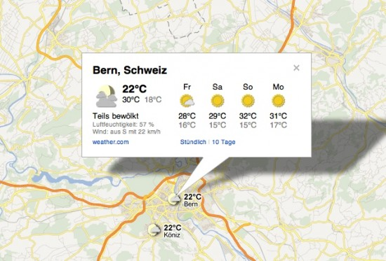 Google Maps Weather Layer Weather.com