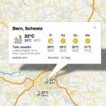Google Maps neu mit Wetterberichten