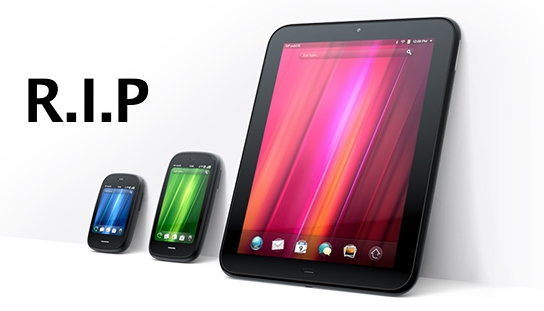 WebOS HP Palm Devices RIP