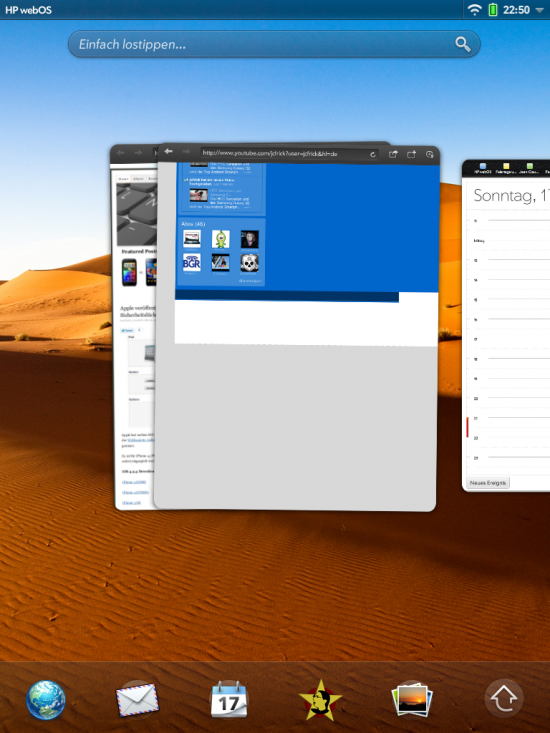 WebOS 3.02 MultiTasking View Apps