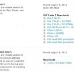 Apple veröffentlicht iOS 5 Beta 5 – iCloud Migration für MobileMe nun möglich
