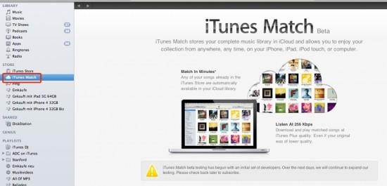 iTunes Match Beta