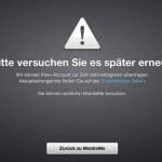 MobileMe Migration zur iCloud überlastet