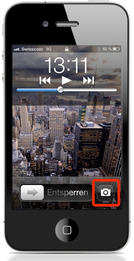 iOS 5 Lockscreen Camera Button