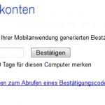 Erinnerung: Nutzt das Google 2 Step Verification Login