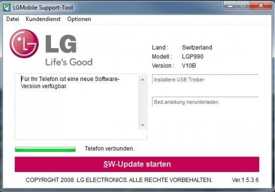 Lg optimus p990 usb
