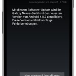 Galaxy Nexus: Update auf Android 4.02