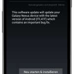 Galaxy Nexus: Erstes Update erschienen