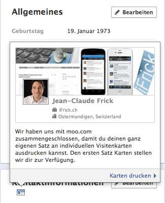 Moo Cards With Facebook Timeline Details Ifrick Ch