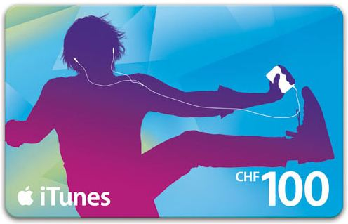 iTunes Gift Card 100sFr