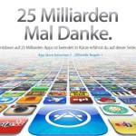 Apple App Store: 25 Milliarden Downloads erreicht