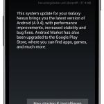 Android 4.0.4 für Galaxy Nexus angekommen
