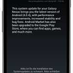 Samsung Galaxy Nexus: Android 4.0.4 erhält Update