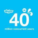 Skype: 40 Millionen Benutzer gleichzeitig online