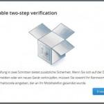 Dropbox führt 2 Wege Authentifizierung ein
