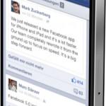 Facebook veröffentlich neue iOS App: Schneller bei seinen Freunden