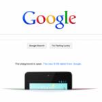 Nexus 7 Tablet: Perfekter Werbeplatz auf Google.com