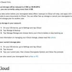 Apple warnt ehemalige MobileMe Nutzer vor iCloud Speicher-Downgrade