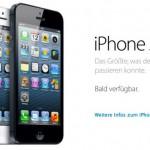 iPhone 5: Vorverkauf startet Freitag um 9 Uhr – Trick bei überlastetem Online Store