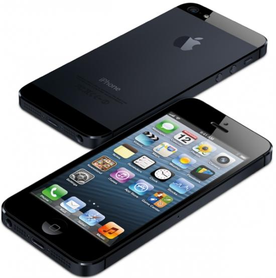 iPhone 5 Schwarz vorne & hinten
