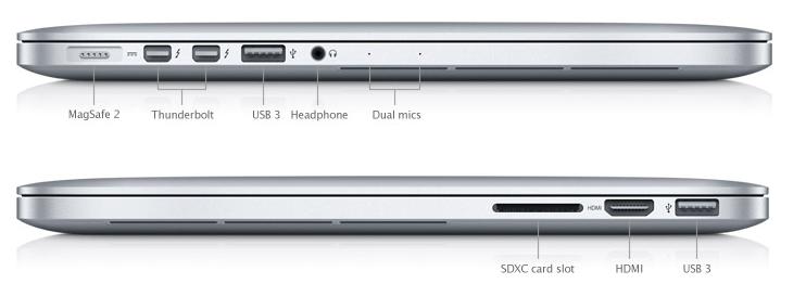 Sdxc Kartensteckplatz.Apple Stellt Macbook Pro 13 Zoll Mit Retina Display Vor