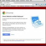 Google Chrome klassifiziert TwitPic als Malware