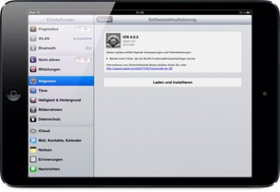iOS 6_0_2 on iPad Mini